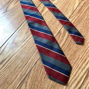 Gant Silk Colorblock Tie Diagonal Stripes Blue